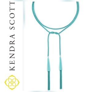 NWT Kendra Scott Phara Necklace (Aqua)